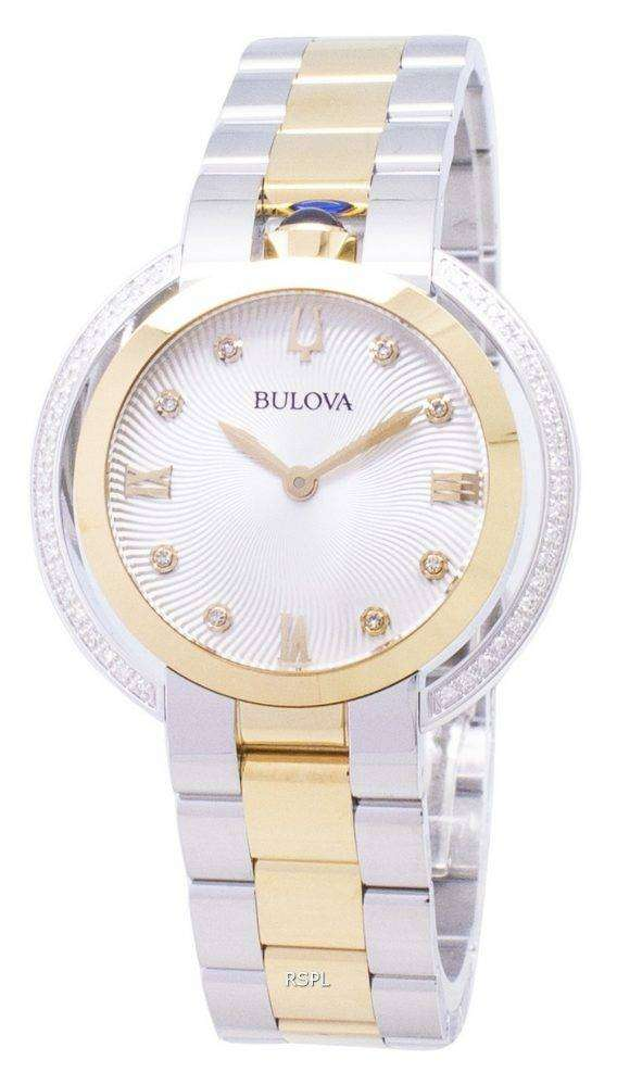 Bulova Rubaiyat 98R246 Diamond Accents Quartz Women's Watch 1