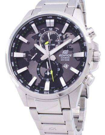 Casio Edifice EFR-303D-1AV World Map Quartz Men's Watch