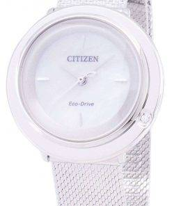 Citizen L Eco-Drive EM0640-82D Analog Diamond Accents Women's Watch