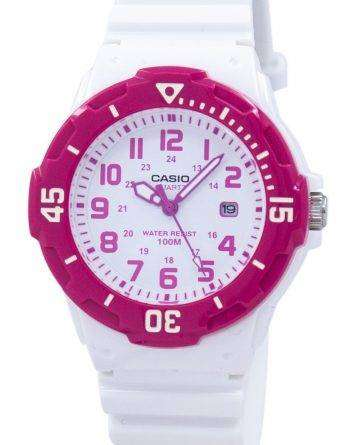 Casio Analog Hot Pink White Dial LRW-200H-4BVDF LRW-200H-4BV Womens Watch