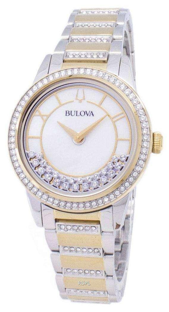 Bulova Crystal TurnStyle 98L245 Quartz Diamond Accents Women's Watch 1