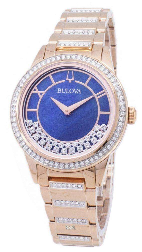 Bulova Crystal TurnStyle 98L247 Quartz Diamond Accents Women's Watch 1