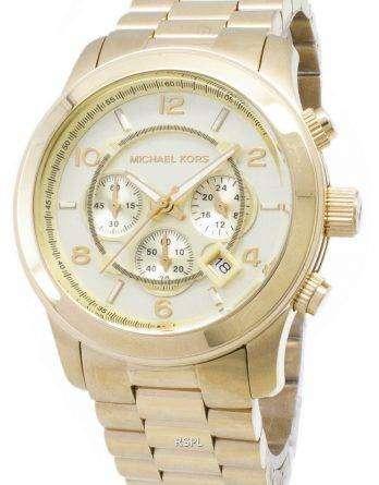 Michael Kors Gold-Tone Runway MK8077 Unisex Watch