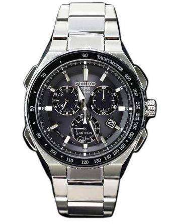Seiko Astron SBXB129 GPS Solar Titanium Power Reserve Chronograph Men's Watch
