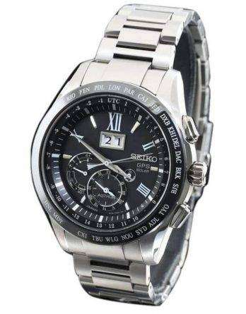 Seiko Astron SSE137 Titanium GPS Solar Power Reserve Japan Made Men's Watch