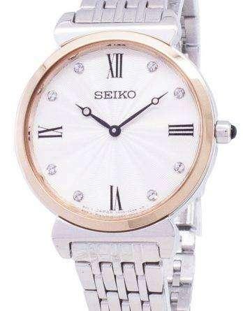 Seiko Quartz SFQ798 SFQ798P1 SFQ798P Diamond Accents Women's Watch