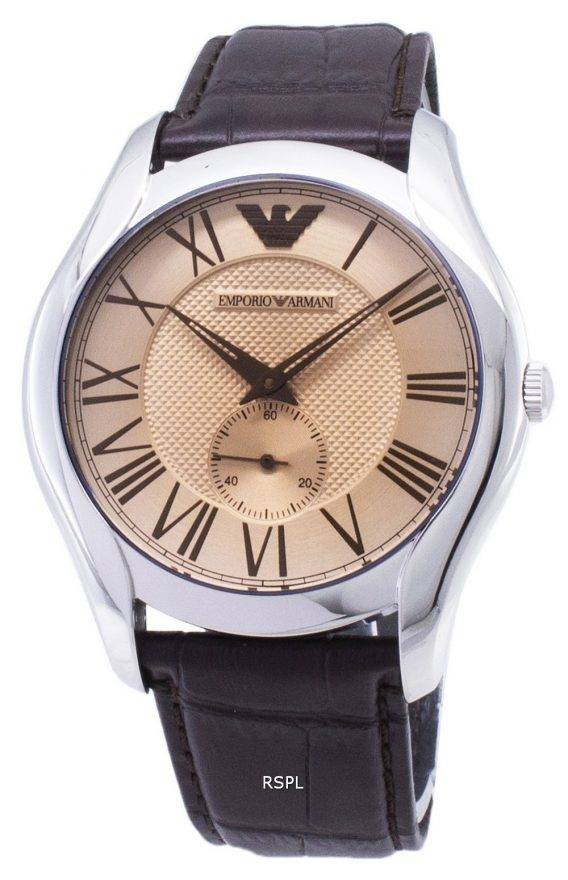 Emporio Armani Classic Amber Dial Brown Leather AR1704 Mens Watch 1