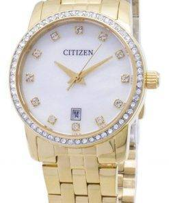 Citizen Quartz EU6032-51D Analog Diamond Accents Women's Watch