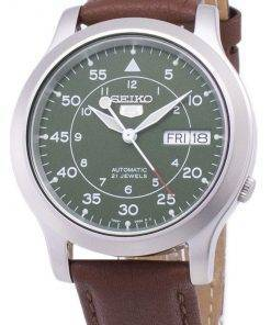 Seiko 5 Military SNK805K2-SS5 Automatic Brown Leather Strap Men's Watch