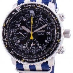 Seiko Pilot's Flight SNA411P1-VAR-NATO2 Quartz Chronograph 200M Men's Watch