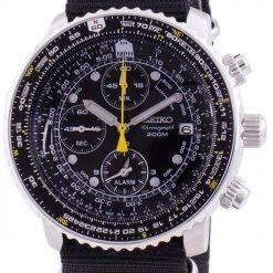 Seiko Pilot's Flight SNA411P1-VAR-NATO4 Quartz Chronograph 200M Men's Watch